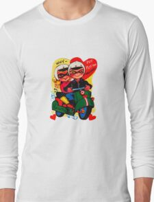 scooter fun dear be my valentine campy tee Long Sleeve T-Shirt