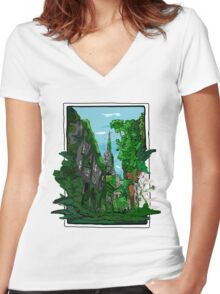 Jungle of Vienna Women's Fitted V-Neck T-Shirt