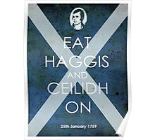 Burns Night - Eat Haggis and Ceildh On Poster