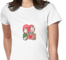 hi cookie be my valentine cute bear  Womens Fitted T-Shirt