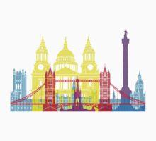 London skyline pop Kids Tee