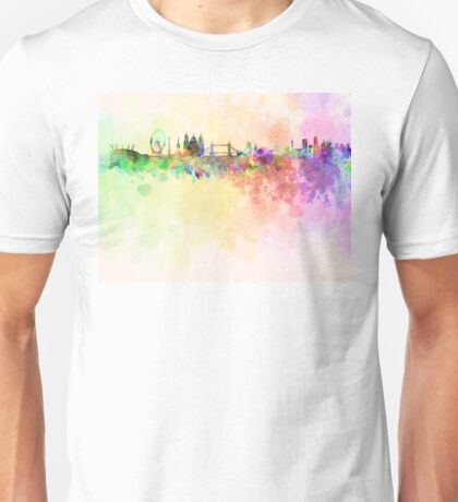London skyline in watercolor background Unisex T-Shirt