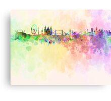 London skyline in watercolor background Metal Print