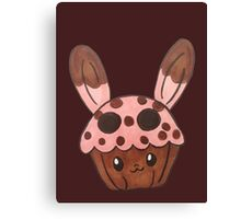strawberry bunny cupcake Canvas Print