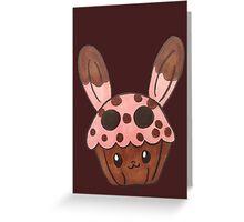 strawberry bunny cupcake Greeting Card