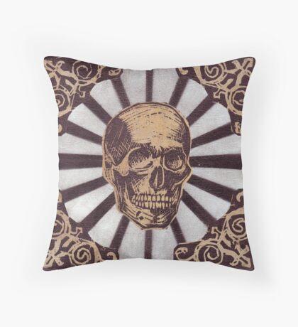 Skull w/Starburst Throw Pillow