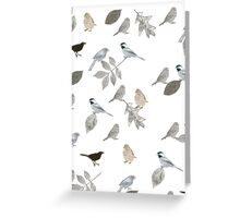 Birds and Leaves Greeting Card