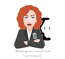 X Files - Dana Skully Photographic Print