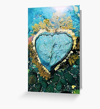 """""""Heart Stone"""" by Justin Lawson Greeting Card"""