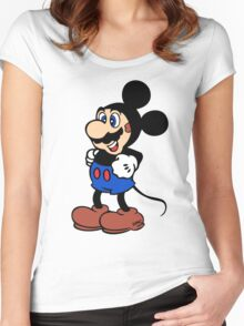 Super Mickey Brother Women's Fitted Scoop T-Shirt