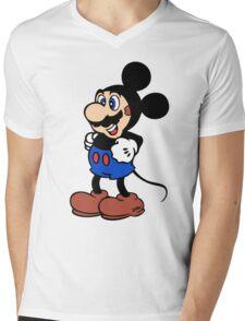 Super Mickey Brother Mens V-Neck T-Shirt