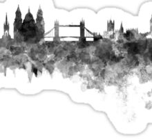 London skyline in black watercolor on white background Sticker