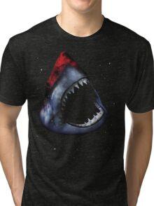 12th Doctor Who Star/Space Shark T-Shirt Ver. 1 Tri-blend T-Shirt
