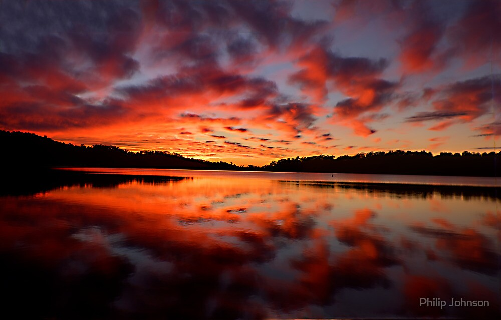Embers Of Day - Narrabeen Lakes, Sydney Australia - The HDR Experience by Philip Johnson