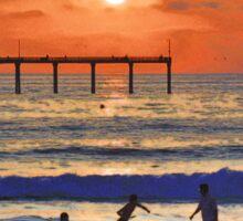 Ocean Beach Sunset Sticker