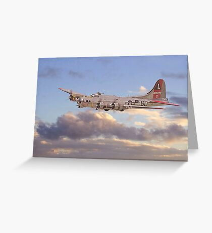 B17 - 381st Gp - Evening Return Greeting Card