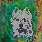 "Original Watercolor, ""Pheobe"", West Highlands Terrier by Melody Hall-Fuller"
