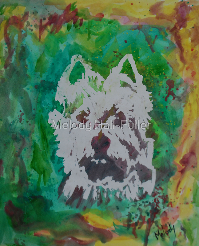"""Original Watercolor, """"Pheobe"""", West Highlands Terrier by Melody Hall-Fuller"""