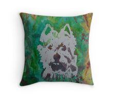 "Original Watercolor, ""Pheobe"", West Highlands Terrier Throw Pillow"