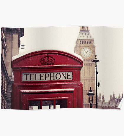 A very London telephone box Poster
