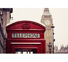 A very London telephone box Photographic Print