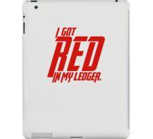 Black Widow - I got red in my ledger. iPad Case/Skin