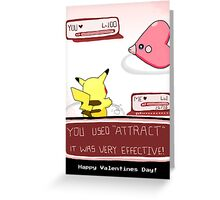 PokéLove Purple Pink Greeting Card