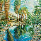"Seven Palms Oasis , acrylic on canvas, 48""x60"" by tutuzi22"