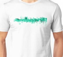 London skyline in green watercolor on white background Unisex T-Shirt