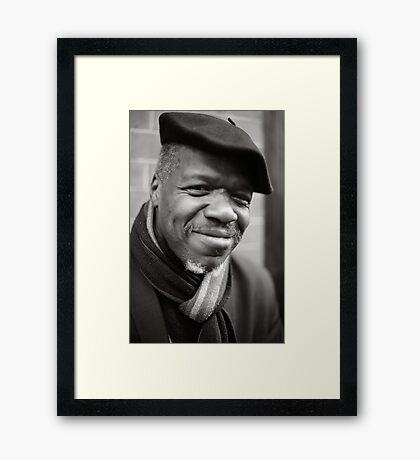 Etienne: Jazz Singer Framed Print