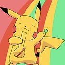 Pikachu Stoned by Studio Momo ╰༼ ಠ益ಠ ༽
