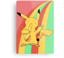 Pikachu Stoned Metal Print