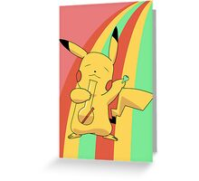 Pikachu Stoned Greeting Card