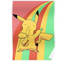 Pikachu Stoned Poster
