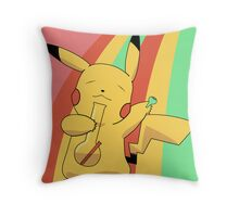 Pikachu Stoned Throw Pillow
