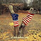 American Tree Flag- Painted Flag On A Tree by Scott Hawkins