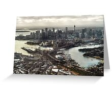 sydney aerial Greeting Card
