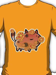 Orange Fruit Cat T-Shirt