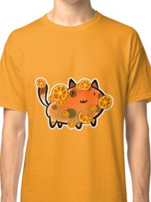 Orange Fruit Cat Classic T-Shirt