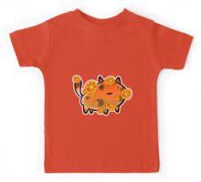 Orange Fruit Cat Kids Tee