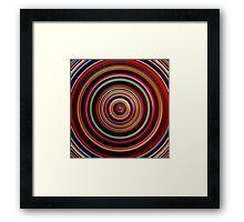 Dark red color circles digital illustration. Framed Print