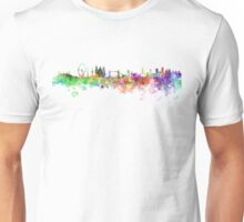 London skyline in watercolor on white background Unisex T-Shirt