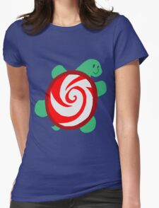 Peppermint Turtle Womens Fitted T-Shirt