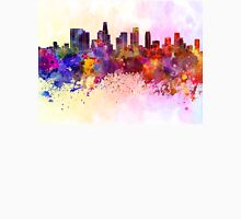 Los Angeles skyline in watercolor background Unisex T-Shirt