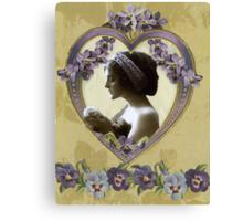 Lady Violet Valentine Canvas Print