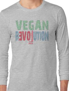 VEGAN REVOLUTION - vegan, vegetarian, animal rights, cruelty to animals Long Sleeve T-Shirt