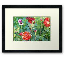 Time Travel  in Flowers Framed Print
