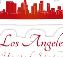 Los Angeles skyline in red Sticker