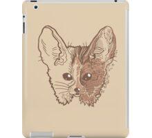 Fennec fox with pretty flowers iPad Case/Skin