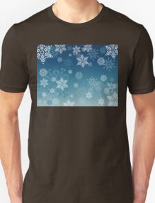 Blue Background with Snowflakes T-Shirt